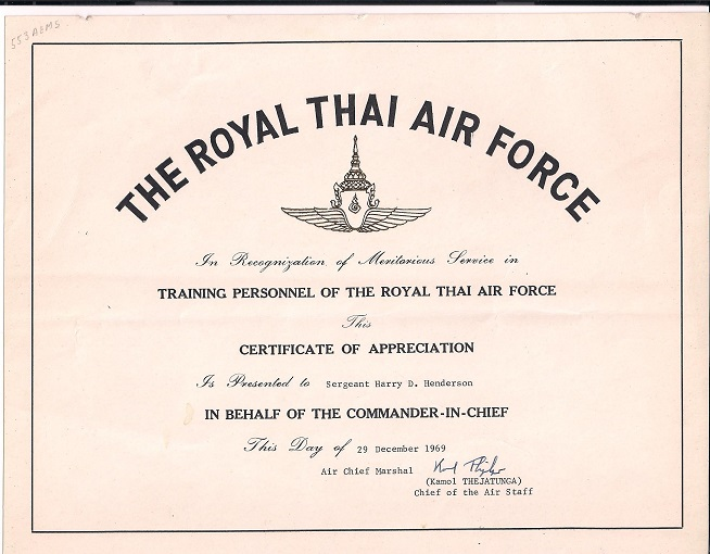 Westin 39 s 553rd recon wing batcat page ec 121r and korat page for Air force certificate of appreciation template