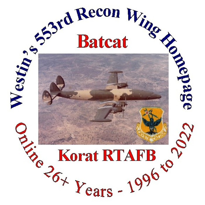 Westins 553rd Recon Wing Batcat Page Ec 121r And Korat Page